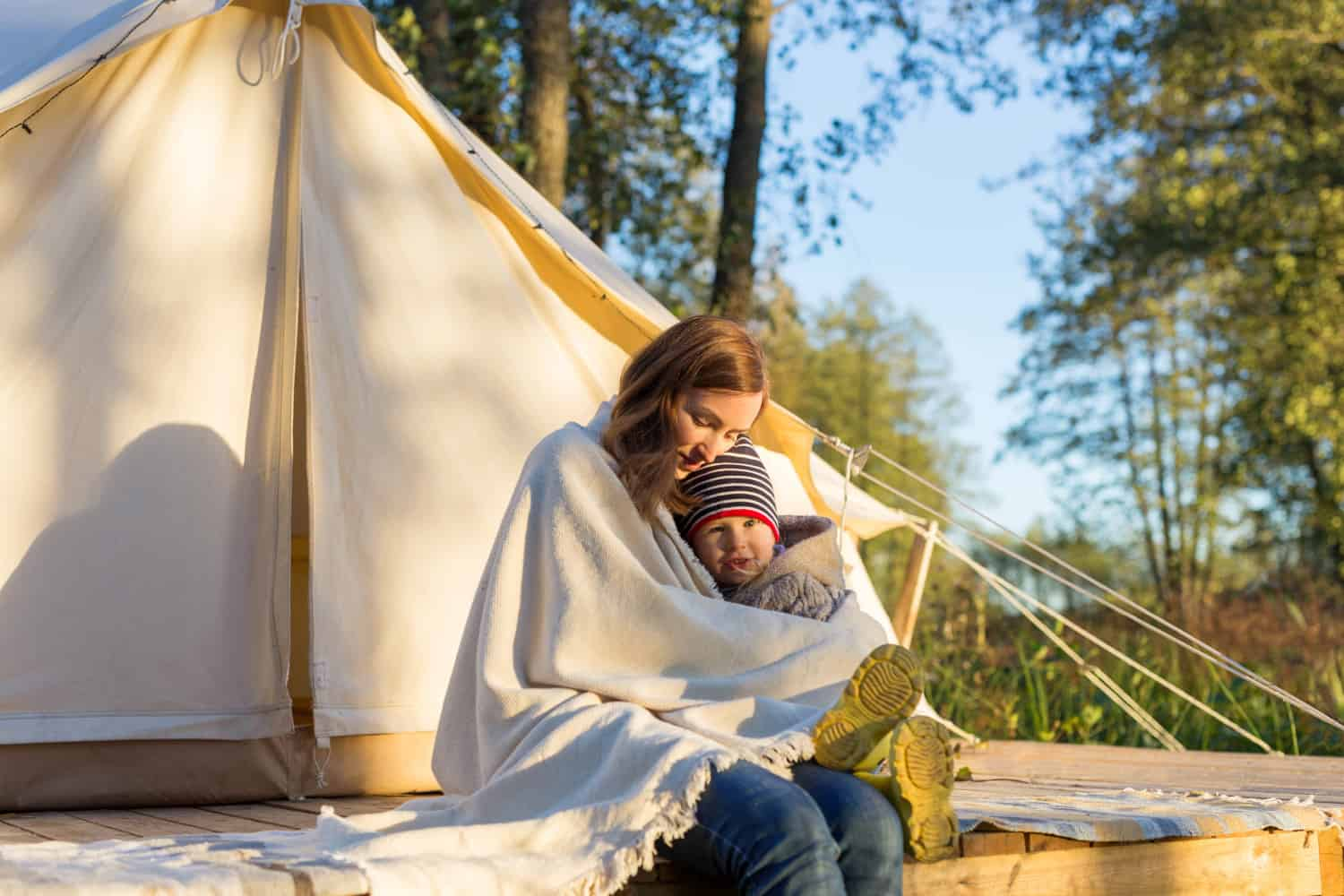 Canvas tent for full-time living
